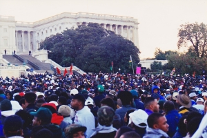 Million Man March, 1995. A sea of Blackness